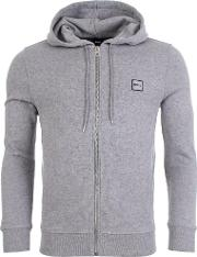 Znacks Full Zip Hooded Jacket In Grey