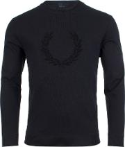 Texture Laurel Wreath Sweatshirt