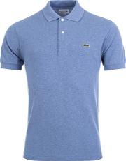 Classic Fit Marl Polo In Blue Acp
