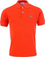 Classic Fit Polo In Orange