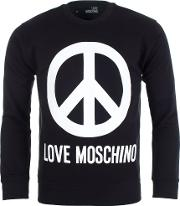 Peace Sign Sweater In Black