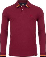 Tipped Long Sleeved Polo Shirt