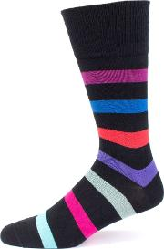 Lock Stripe Socks