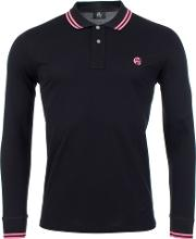 Long Sleeve Tipped Polo