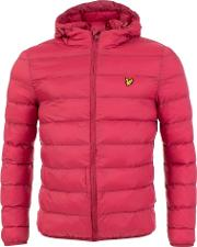 Quilted Puffa Jacket In Wine