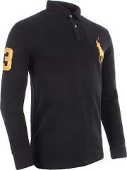 Big Pony Logo Custom Long Sleeve Polo