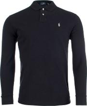 Custom Slim Fit Mesh Long Sleeve Polo
