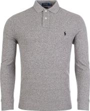 Long Sleeve Marl Polo