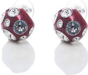 Valent Crystal Studs In Red