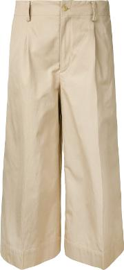 08sircus Cropped Trousers Women Cottonlinenflax 2, Nudeneutrals