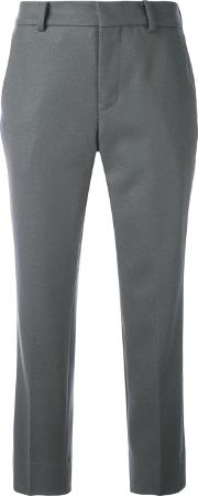 Cropped Tailored Trousers Women Cuprowool 1, Grey