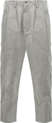 Cropped Trousers Men Cottonpolyester 7, Grey