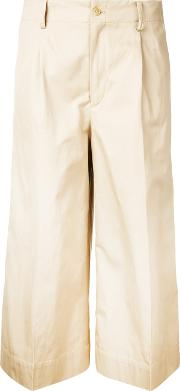Cropped Trousers Women Cottonlinenflax 2, Nudeneutrals