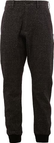 Cuffed Trousers Men Nylonrayonangorapolyester 7, Black