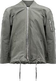 Drawstring Bomber Jacket Men Linenflaxnylon 5, Green