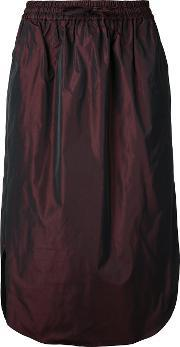 Drawstring Midi Skirt Women Polyester 36