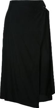 Drawstring Skirt Women Silkcupro 36, Women's, Black