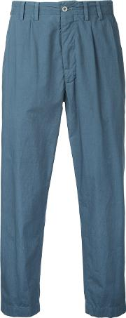 Dull Cropped Trousers Men Cotton 4, Blue