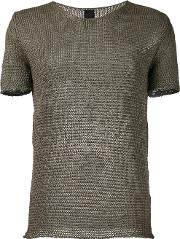 Knit Round Neck T Shirt Men Cottonpolyamide L