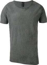 Round Neck T Shirt Men Cotton S, Grey
