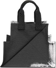 132 5. Issey Miyake Structured Tote Bag Women Polyester One Size, Black