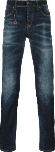 'chat The Slim' Jeans Men Cottonspandexelastane 36, Blue