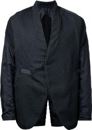 Abasi Rosborough Striped Panel Blazer Men Cottonrayonwool Xl, Black