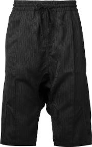 Ribbed Stripe Track Shorts Men Cottonwool Xl, Black
