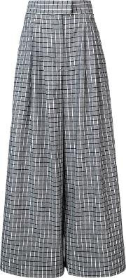 Cunningham Wide Legs Checked Trousers
