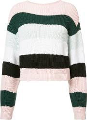 Striped Cropped Jumper Women Cotton S, Women's