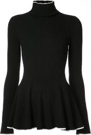 Turtleneck Peplum Sweater