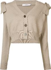 Cropped Cardigan Women Cottonpolyester S, Nudeneutrals
