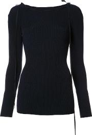 Ribbed Detail Jumper Women Nylonpolyurethanelyocell S, Blue