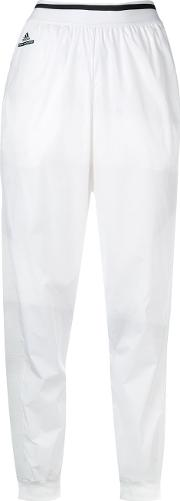 Track Trousers Women Polyester M, White