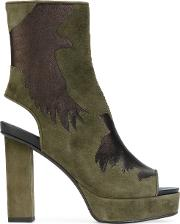 A.f.vandevorst Cut Out Detail Boots Women Goat Skinleather 40, Green