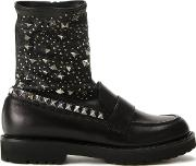 A.f.vandevorst Studded Boots Women Sheep Skinshearling 38, Black