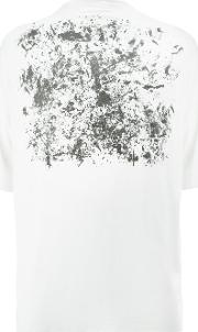 Printed T Shirt Men Cotton S, White