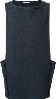 Sleeveless T Shirt Men Wool 48, Grey