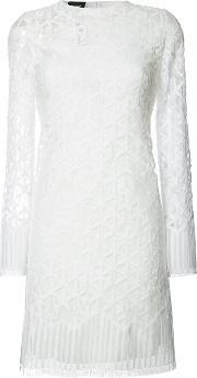 Embroidered Dress Women Silkcottonpolyimide 6, Women's, White