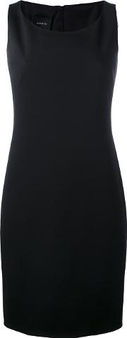 Fitted Shift Dress Women Spandexelastanemulberry Silk 34, Black