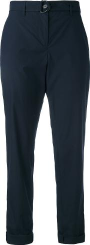 Ankle Length Trousers Women Cotton 36, Blue