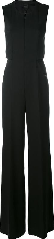 Wide Leg Jumpsuit Women Spandexelastanemulberry Silk 34, Women's, Black
