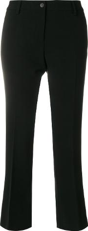 Alberto Biani Flared Fitted Trousers Women Polyesterpolyurethanerayon 40, Black