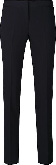 Cropped Slim Fit Trousers