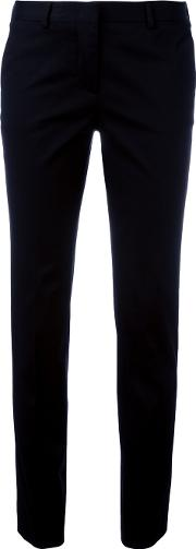 Tailored Cropped Trousers Women Cottonspandexelastane 42, Black