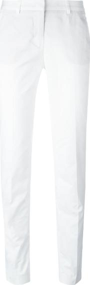 Tailored Trousers Women Cotton 38, White