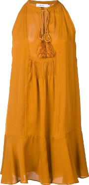 A.l.c. 'hadley' Dress Women Silk 6, Yelloworange