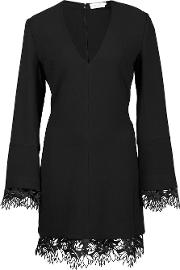 A.l.c. Lace Hem Dress Women Spandexelastaneviscose 0, Black