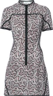 A.l.c. Printed Short Dress Women Silk 2, White
