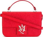 Insignia Satchel Women Leathersuede One Size, Red